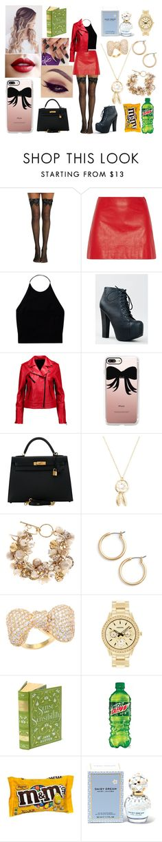 """""""Untitled #191"""" by marieborrero on Polyvore featuring Miu Miu, Wilfred, Breckelle's, rag & bone, Casetify, Hermès, Coast, Nordstrom, Kate Bissett and FOSSIL"""