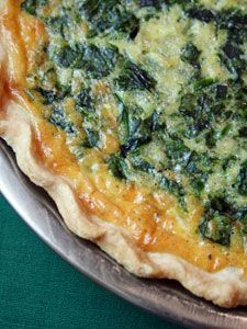 Spinach, Bacon, and Swiss Quiche