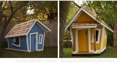 Casa de niños... que gran idea. Quisiera ser niño de nuevo para pasar grandes aventuras dentro de mi casita.  casa-prefabricada-juego-niños