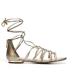 Unisa Women's Krieo Gladiator Sandals (Rose Gold) - 10.0 M