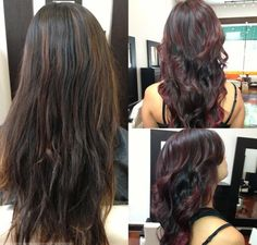 DARK RED OMBRE | Dark Brown To Dark Red Ombre Hair Dying black-dark brown hair