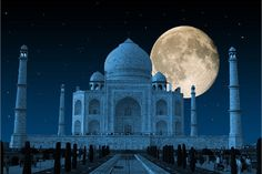 October to march is considered a best time to visit the Taj. We can also enjoy the illustration beauty of the Taj Mahal is at its peak during sunrise, sunset, and under the full moon night. Taj Mahal seems to be glow under the full moon light