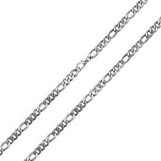 Bling Jewelry Silver Tone Stainless Steel Necklace Figaro Link Chain for Men Heavy 18 Inch Trendy Jewelry, Bling Jewelry, Jewelry Necklaces, Male Jewelry, Fashion Jewelry, Jewellery, Mens Chain Necklace, Stainless Steel Necklace, Chains For Men