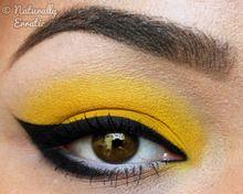 Strong liner over Sugarpills Buttercupcake yellow eyeshadow. Bria J