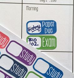 College Planner Stickers / Fits Erin Condren by GYSTPlanner. Price: $2.95