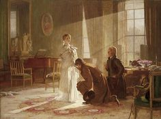 This painting by Henry Tanworth Wells shows Queen Victoria receiving the news of her accession. Victoria Queen Of England, Queen Victoria Prince Albert, Victoria And Albert, Princess Victoria, Victoria Reign, Regina Queen, Queen Mary, King William Iv, Victoria's Children