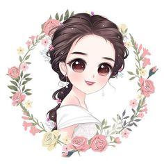 Cartoon Girl Images, Cute Cartoon Pictures, Cute Cartoon Girl, Cute Love Cartoons, Cute Girl Drawing, Cartoon Girl Drawing, Cartoon Art, Mode Poster, Portrait Cartoon