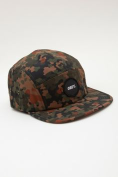 OBEY CLOTHING - OBEY CIRCLE PATCH 5 PANEL HAT