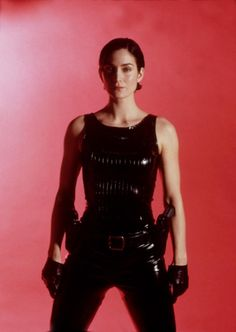 Carrie Anne Moss as Trinity (The Matrix) Trinity Matrix, The Matrix Movie, Carrie Anne Moss, Photo Star, Film Serie, Keanu Reeves, Life Magazine, Skin Tight, Movies And Tv Shows