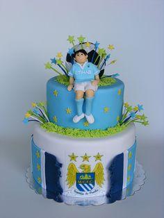 . Harry Birthday, 7th Birthday, Birthday Cakes, Birthday Ideas, City Cake, Family Humor, Cakes For Boys, Manchester City, Man Cake