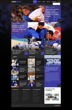 Template 52958 - Judo News  Responsive Website Template