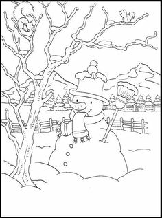 in the backyard coloring page snowman coloring page - Christmas Coloring Pages To Print