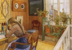 pintura de Carl Larsson