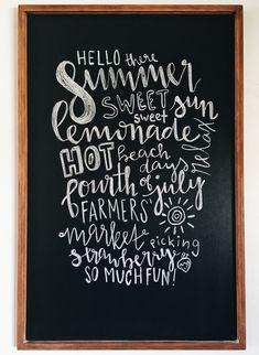 summer chalkboard art #design #summerdesign #summerchalkboard #chalkboard #chalkboarddesign