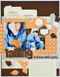 Falling In Love With You Layout by Leanne Allinson via Jillibean Soup  Blog