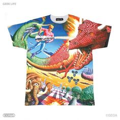 SPACE HARRIER TEE. holy awesome. スペースハリアー フルプリント Tシャツ - GEEK LIFE STORE