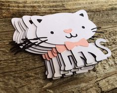 Kitten Cat Die Cuts Cat Party Kitten Party by BlueOakCreations Cat Birthday, First Birthday Parties, Birthday Party Themes, First Birthdays, Birthday Cards, Birthday Ideas, Kitty Party, Diy Baby Shower Decorations, Birthday Decorations
