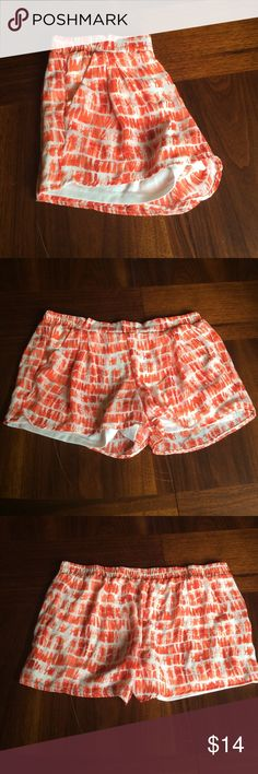 Jolt comfy shorts Awesome condition! Has pockets. Orange and white colors. Please ask if you have any questions. Bundle to save.❤️ Jolt Shorts