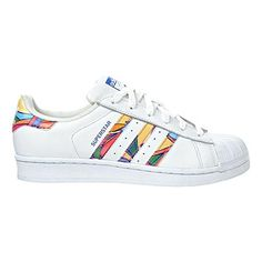 adidas Originals Women's Superstar W Fashion Sneaker, White/White/Lab Blue, 5 M US - Brought to you by Avarsha.com