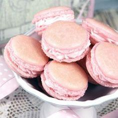 Macarons Allrecipes.com  Original recipe makes 30 cookies  4 extra large egg whites  1 2/3 cups confectioners' sugar  1 1/3 cups almond flour  1/8 teaspoon salt  1/4 cup superfine (castor) sugar
