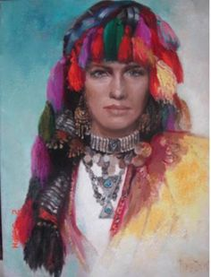 .Remzi Iren -.Turkish Painter Anatolia headband
