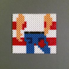 Bruce Springsteen Magnet -  Born in the USA Perler Beads by HarmonArt2