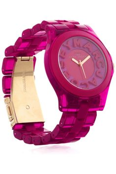 Acetate and rubber watch by Marc by Marc Jacobs