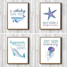 Baby boy nursery themes ocean room decor 53 ideas for 2019 Sea Nursery, Girl Nursery, Ocean Themed Nursery, Mermaid Nursery Theme, Ocean Theme Baby Shower, Nautical Baby Nursery, Whale Nursery, Babies Nursery, Nursery Room
