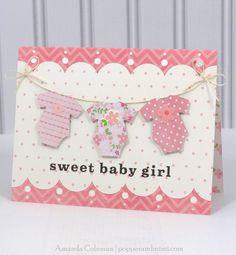 Baby Girl Onesie Card