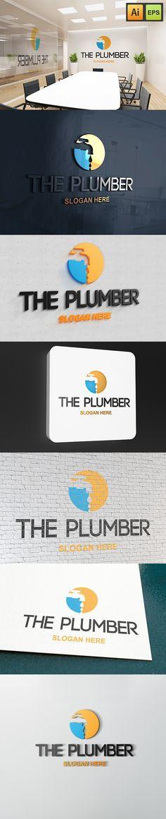 """@Behance projeme göz atın: """"The Plumber Logo""""…"""