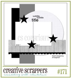 scrapbook page sketch. #scrapbooking #sketch  Could use this for Hoop Dance layout (circular element)