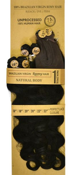 Laflare 100% Unprocessed Brazilian Virgin Remy Hair Weave NATURAL BODY (7 Pcs-1 Pack Solution)