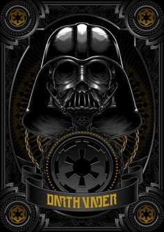 Death Side Series : Darth Vader & Shadow Stormtrooper by Charles AP, via Behance Darth Vader, Vader Star Wars, Images Star Wars, Gravure Laser, Star Wars Poster, Love Stars, Boba Fett, Dark Side, Sci Fi