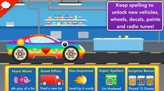 Little Big Car Factory: Spelling Game ($1.99) Players learn words progressively through 3 levels of difficulty - Add your own word lists (as many as you want) - Add multiple player profiles - SEE, HEAR, SPELL method provides a holistic exposure to words and supports different learning styles - Adaptive Assistance technology presents the player's 'tricky words' more often over time  - Accommodates word lists for any language with left-to-right letter order - Voice record option