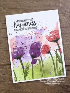 Beautiful and super easy greeting cards created with Peaceful Poppies Designer Paper, Peaceful Moments Stamp Set, Wink o Poppy Cards, Wink Of Stella, Fun Fold Cards, Stamping Up Cards, Watercolor Cards, Card Sketches, Homemade Cards, Homemade Greeting Cards, Flower Cards
