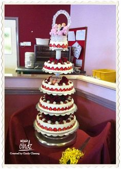 The most OMG wedding cake I had ever seen! How many tiers? – are you sure there'll be enough for seconds?