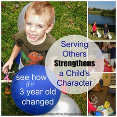 Serving Others Strengthens a Child's Character-See how this 4 year old changed because we served every day.  Teach kids to serve!  #servingothers #kindness #parenting