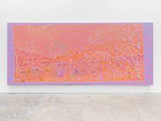 JOHN MCALLISTER sun bronzed rose riot, 2015, oil on canvas, 72 x 168 inches
