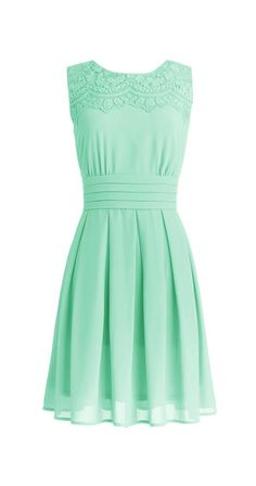 Mint Dress -- would be adorable with some little cap sleeves in the same color and material