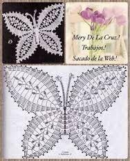 Afbeeldingsresultaat voor mariposas tejidas en crochet patrones