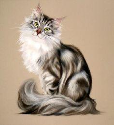 Winning Look by Stephanie Manchipp. #cats #art #cute