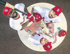 2015 Cardinals preview cover Clockwise: Jason Heyward, Matt Carpenter and Kolten Wong