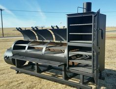 Are YOU in the Restaurant Business? If so, this diameter Ranger smoker is perfect for you! This particular smoker was sold to Mugsy's Restaurant in Yale, Oklahoma! We will custom build your dream smoker. Contact us at for information! Bbq Smoker Trailer, Bbq Pit Smoker, Fire Pit Grill, Bbq Grill, Barrel Smoker, Grilling, Custom Bbq Smokers, Custom Bbq Pits, Outdoor Smoker