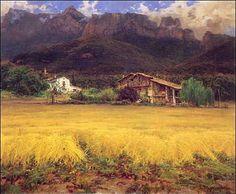 Masia al peu del Puigsaclam (La Vall d'en Bas)