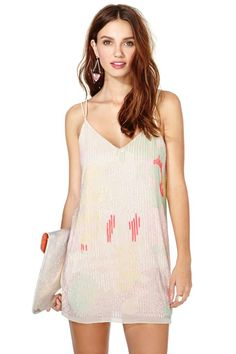 Nasty Gal Escapade Sequin Slip Dress