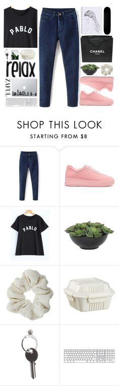 """#520 Great day"" by mia5056 ❤ liked on Polyvore featuring Lux-Art Silks, Topshop, Crate and Barrel, Chanel and Maison Margiela"