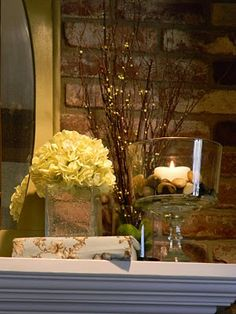 simple mantel ideas for spring