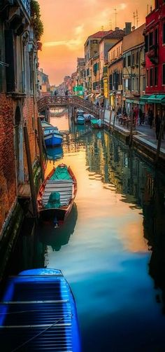 'Venicimo' Canal Sunset - Venice, Italy // For premium canvas prints & posters check us out at www.palaceprints.com