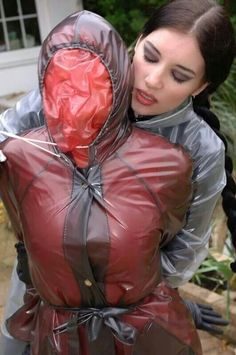 I must find these women and make them my mistresses. Wrap me up like her and suffocate me in PVC! Plastic Raincoat, Pvc Raincoat, Plastic Mac, Heavy Rubber, Rubber Gloves, Apron Dress, Kate Beckinsale, Rain Wear, Doll Face