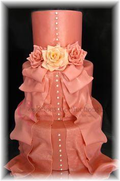 Mauve Wedding Cake on Cake Central
